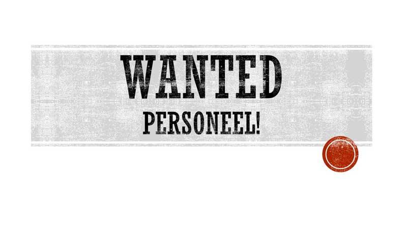 WANTED PERSONEEL