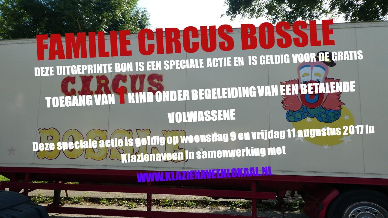 Circus Bossle, actie, aanbieding